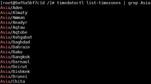 CentOS_Timezone_list_timezones